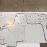 Racing Simulator - découpe au laser du nouveau tableau de bord